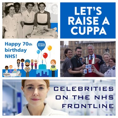 NHS 70 collage